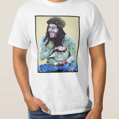 Large Shirt with a 14x16 print at Inked Custom Clothing