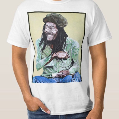 Large Shirt with a 16x20 print at Inked Custom Clothing